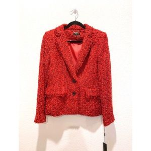 DKNY Wool Blended Tweed Blazer